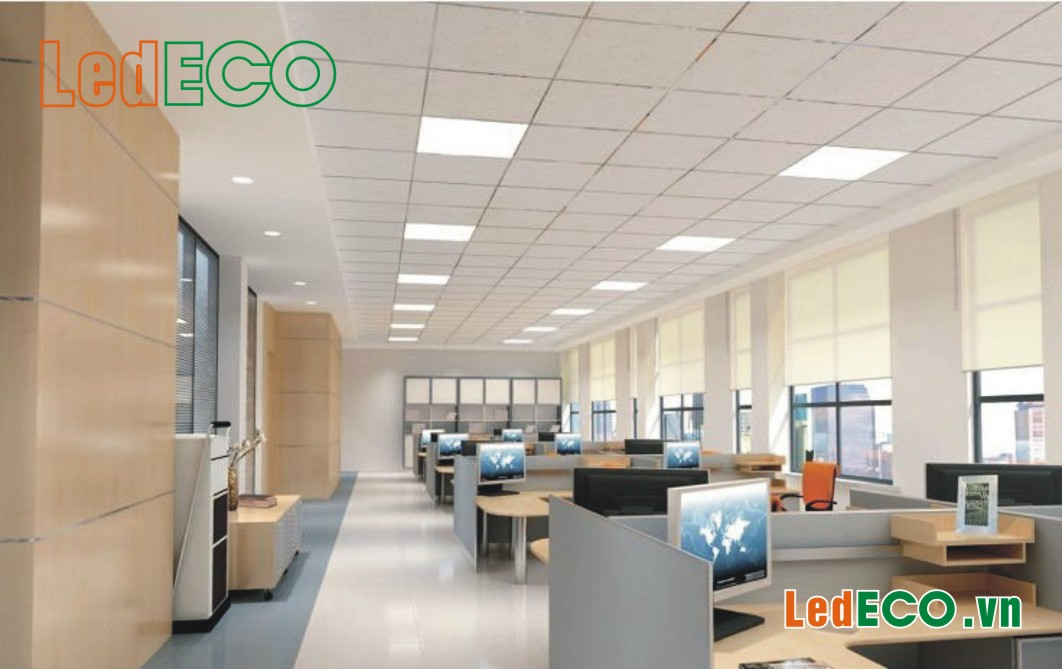 Đèn LED panel tòa nhà văn phòng
